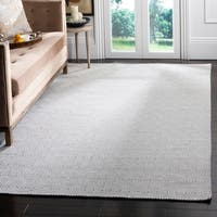Safavieh Oasis Contemporary Flat Weave Silver/ Ivory Wool Rug (6' x 9') - 6' x 9'