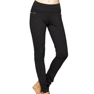 Women's Black Rayon/Nylon/Spandex Ponti Pants