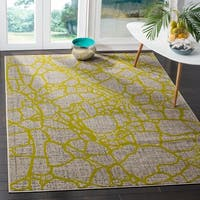 Safavieh Porcello Modern Abstract Light Grey/ Green Rug - 5'2 x 7'6
