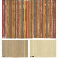 "Artist's Loom Flatweave Contemporary Solid Pattern Jute Rug( 2'6""x7'6"")"