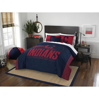 The Northwest Company MLB Cleveland Indians Grand Slam Blue and Red Full/Queen 3-piece Comforter Set
