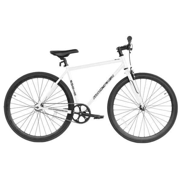 Micargi RD-818-57 Black and White Aluminum Road Bike