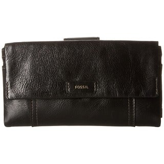 Fossil Ellis Black Leather Clutch Wallet