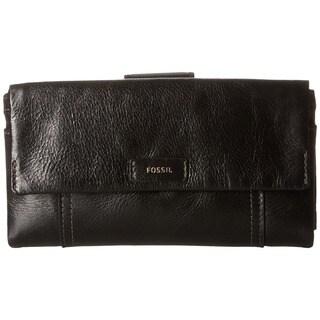 Fossil Ellis Black Leather Clutch Wallet