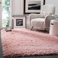 "Safavieh Polar Light Pink Shag Rug - 5'1"" x 7'6"""