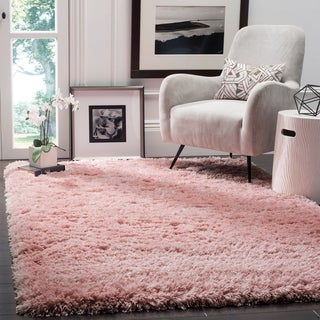 Safavieh Polar Light Pink Shag Rug - 5' 1 x 7' 6
