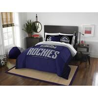 The Northwest Co MLB Colorado Rockies Grandslam Blue Full/Queen 3-piece Comforter Set