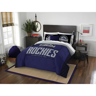 The Northwest Co MLB Colorado Rockies Grandslam Blue Full/Queen 3-piece Comforter Set