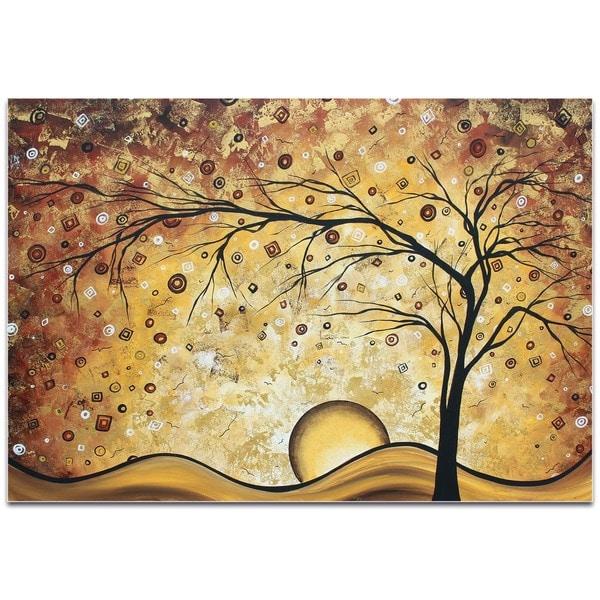 Megan Duncanson \'Golden Rhapsody\' Landscape Painting on Metal or ...