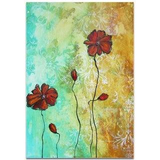 Megan Duncanson 'Poppy Love' Flower Painting on Metal or Acrylic