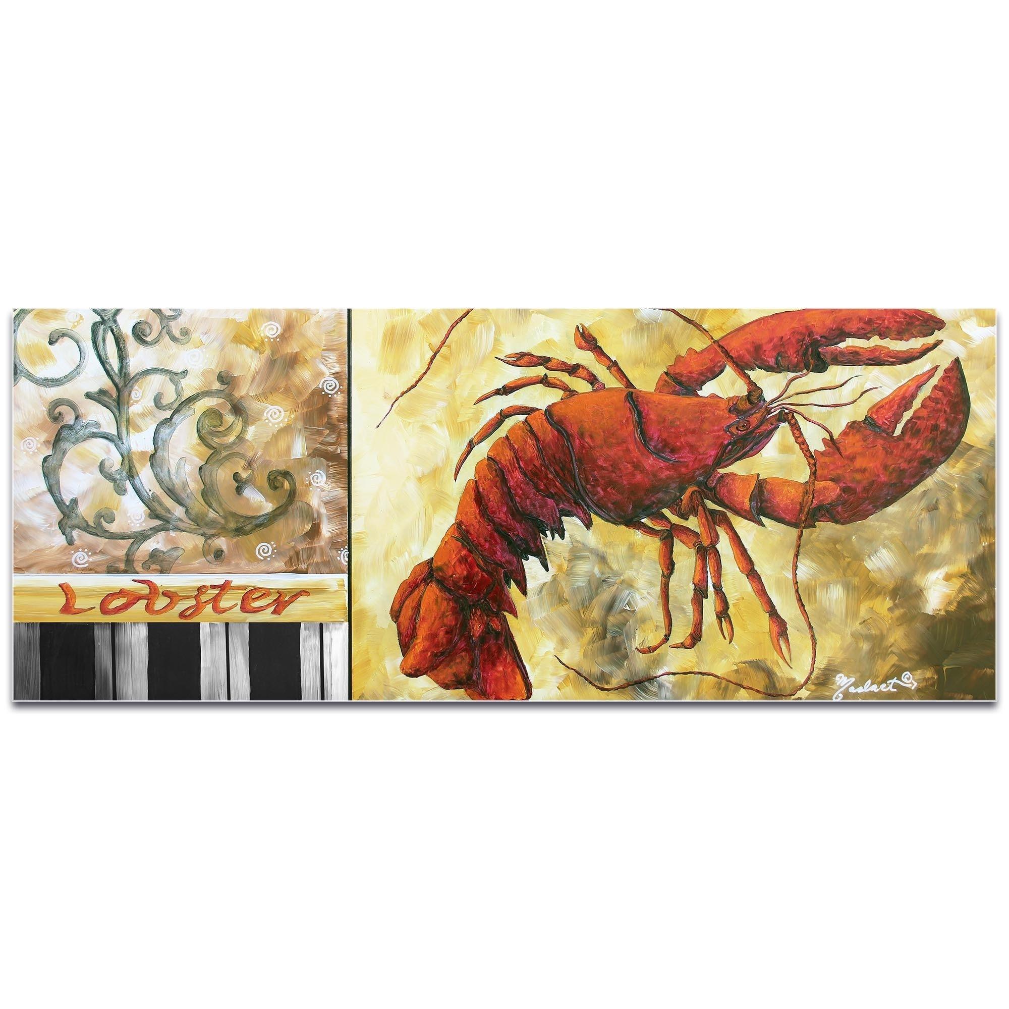 Megan Duncanson \'Lobster\' Coastal Decor on Metal or Acrylic   eBay