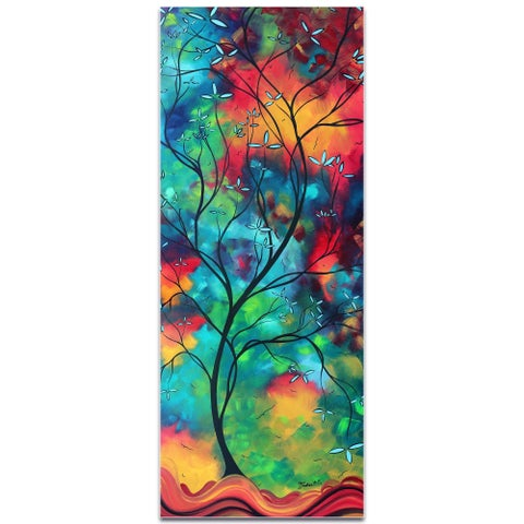 Megan Duncanson 'Colored Inspiration' Landscape Painting on Metal or Acrylic