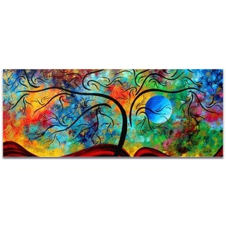 Megan Duncanson 'Blue Moon Rising' Landscape Painting on Metal or Acrylic