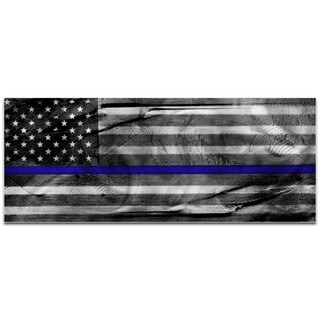 Eric Waddington 'American Glory Police Tribute' Police Officer Flag on Metal or Acrylic