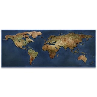 Ben Judd '1800s World Map' World Map Art on Metal or Acrylic
