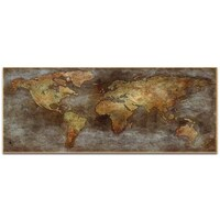 Old World Map Art. Ben Judd  1800s Trade Routes Map World Art on Metal or Acrylic Alan Rodriguez Old Large Rustic Wall