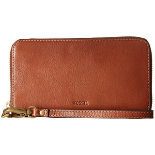 Fossil Emma RFID Brown Leather Smartphone Wristlet
