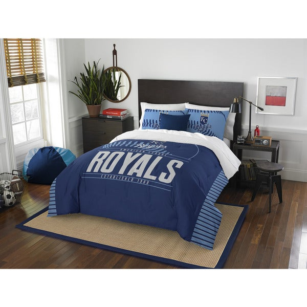 The Northwest Company MLB Kansas City Royals Grand Slam Blue Full/Queen 3-piece Comforter Set