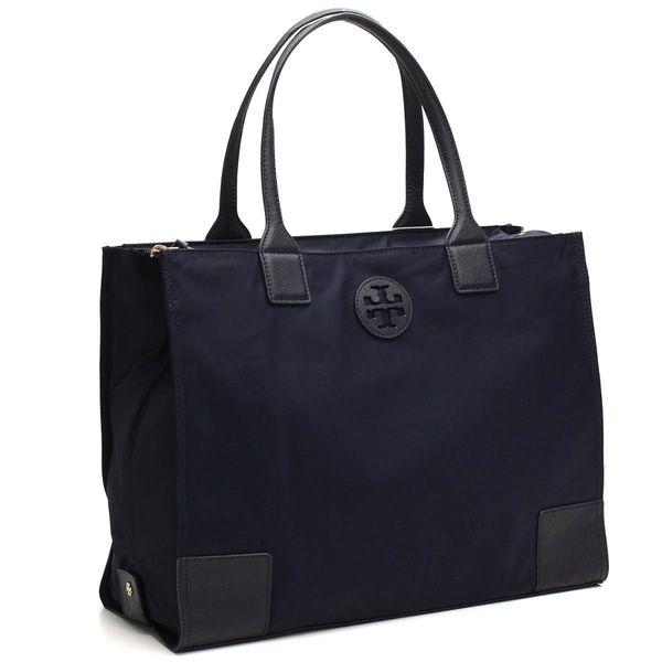 02b347ede02 Shop Tory Burch Ella Tory Navy Foldable Tote Bag - Free Shipping ...