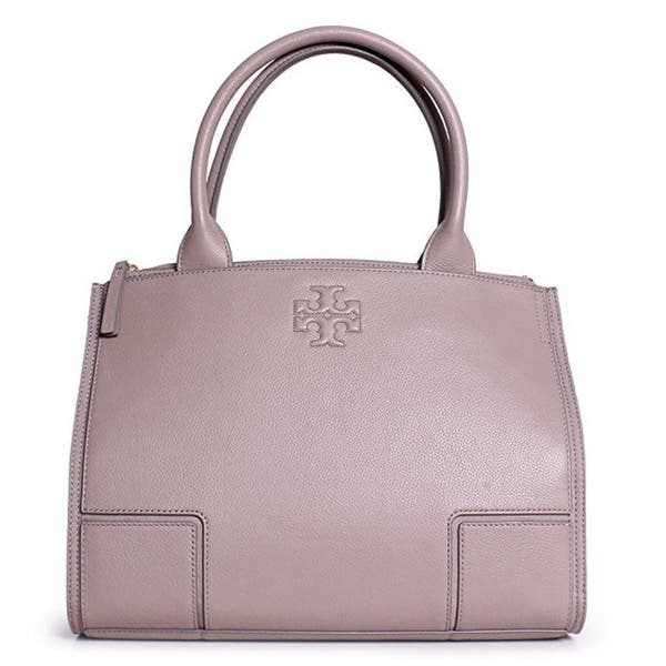 26d609870fcf Shop Tory Burch Ella French Grey Canvas and Leather Mini Tote Bag ...