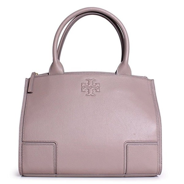a39256c351d7 Shop Tory Burch Ella French Grey Canvas and Leather Mini Tote Bag ...