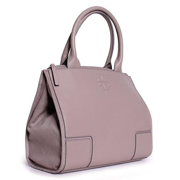 5e99dae0a289a Shop Tory Burch Ella French Grey Canvas and Leather Mini Tote Bag ...