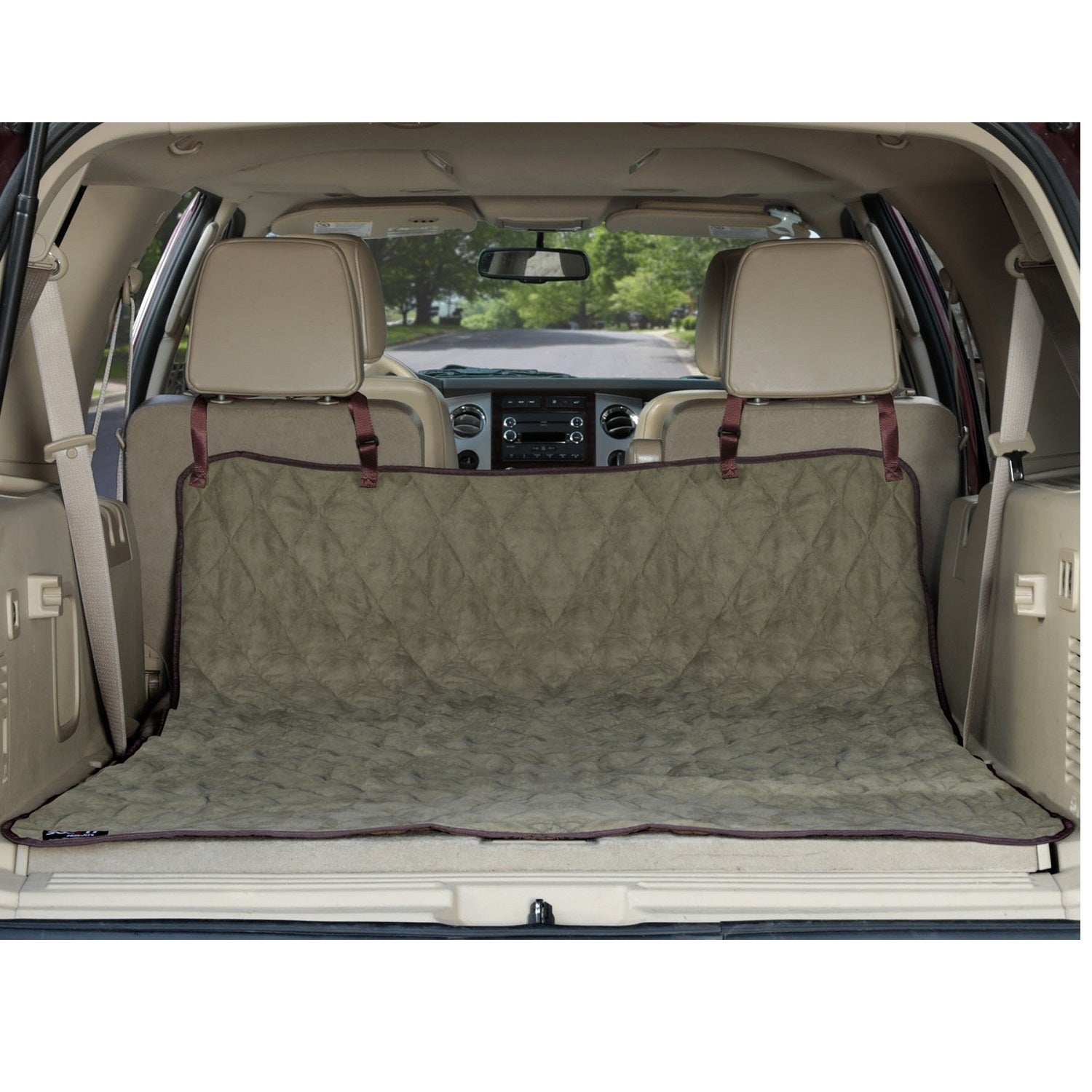 Sensational Solvit Deluxe Sta Put Green Micro Suede Suv Dog Cargo Liner Ibusinesslaw Wood Chair Design Ideas Ibusinesslaworg