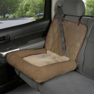 Solvit Car Cuddler Tan Microsuede Dog Booster Seat