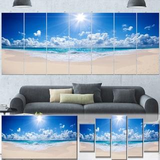 Designart 'Beautiful Tropical Beach Panorama' Modern Seashore Canvas Art