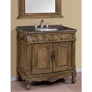 Regine Brown-Grey Marble Top 36-inch Single Bathroom Vanity