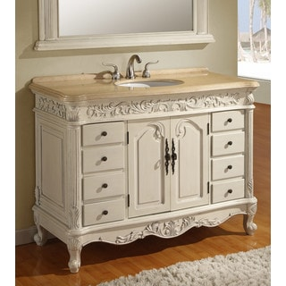 Ares Cream Marble 48-inch Single Bathroom Vanity