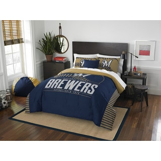 The Northwest Company MLB Milwaukee Brewers Grandslam Full/Queen 3-piece Comforter Set