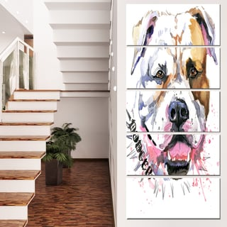 Designart 'Cute Dog with Open Mouth' Animal Canvas Wall Art