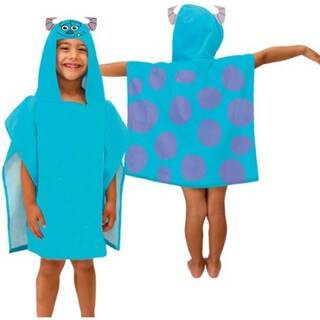 Disney Pixar Monsters University Sully Hooded Character Bath Poncho