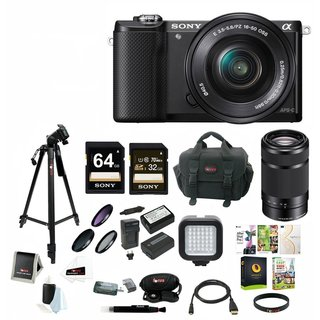 Sony Alpha a5000 SLR Camera with E 55-210mm Lens & Focus Accessory Bundle