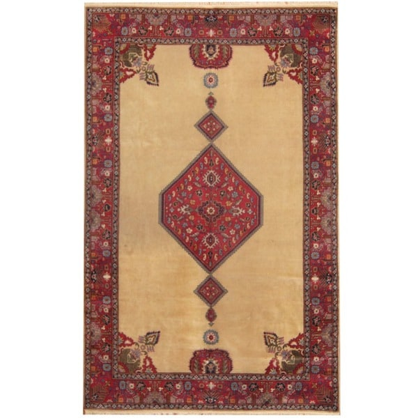 Herat Oriental Antique 1920's Persian Hand-knotted Tabriz Wool Rug (6'6 x 9'10)