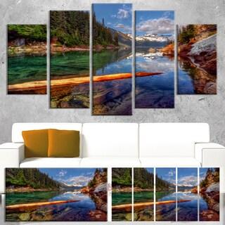 Designart 'Floating Lake in Mountain Lake' Large Landscape Art Canvas Print