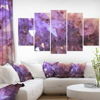 Purple White Natural Amethyst Geode' Large Abstract Canvas Artwork