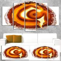 Designart 'Vibrant Agate Geode Slice' Large Abstract Canvas Artwork