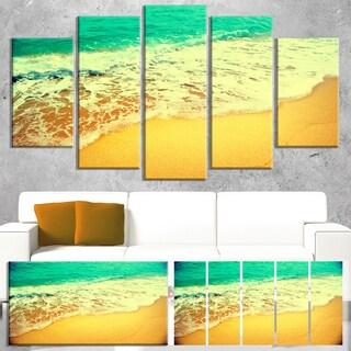 Designart 'Beautiful Sea Summer Background' Large Seashore Canvas Wall Art