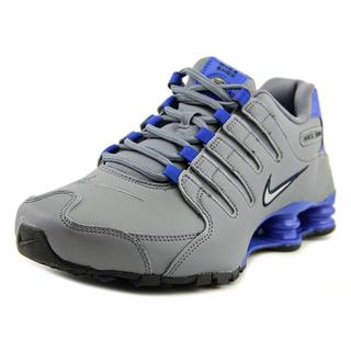 Nike Men's Shox NZ Grey Synthetic Athletic Shoes