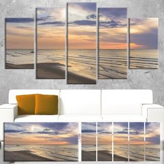 Designart 'Calm Sunset in Thailand Beach' Landscape Artwork Canvas Print