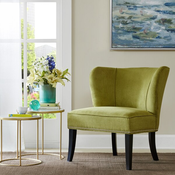Shop Madison Park Sheldon Green Armless Accent Chair Free Shipping Today