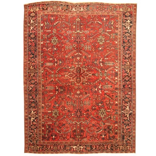 Herat Oriental Antique 1920's Persian Hand-knotted Heriz Wool Rug (8'6 x 11'9)