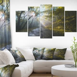 Road in Autumn Forest at Sunset' Large Landscape Art Canvas Print|https://ak1.ostkcdn.com/images/products/13285192/P19995137.jpg?impolicy=medium