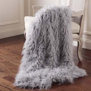 Aurora Home Mongolian Lamb Faux Fur Throw (More options available)