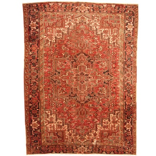 Herat Oriental Antique 1920's Persian Hand-knotted Heriz Wool Rug (8'9 x 12')