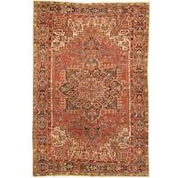 Handmade Herat Oriental Antique 1920's Persian Heriz Wool Rug - 7'7 x 11'3 (Iran)