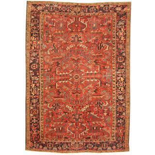 Handmade Herat Oriental Antique 1920's Persian Heriz Wool Rug (Iran) - 7'5 x 10'5