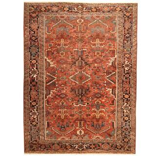 Handmade Herat Oriental Antique 1920's Persian Heriz Wool Rug (Iran) - 7'11 x 10'9